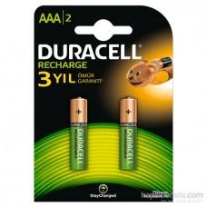 Duracell Şarj Edilebilir AAA İnce Kalem Pil 750 mAh 2'Li
