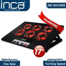 """Inca INC-601GMS 7""""-17"""" 6 Fanlı 2xUSB 6 Kademeli Laptop Soğutucu"""