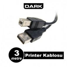 Dark USB 2.0 3m Printer ve Data Yazıcı Kablosu (B-Tip)