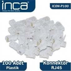 Inca RJ45 100 Adet Konnektör ICON-P100
