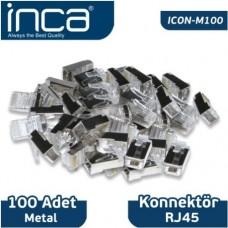 Inca RJ45 100 Adet Metal Konnektör ICON-M100