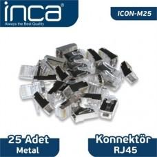 Inca RJ45 25 Adet Metal Konnektör ICON-M25